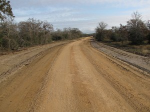 dirt road for farm and ranch improvement